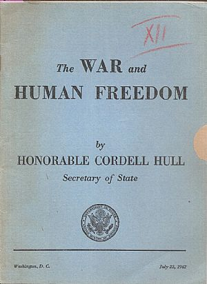 The war and human freedom